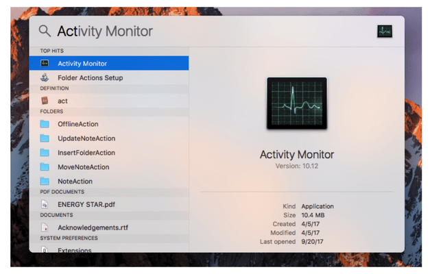 task manager activity monitor
