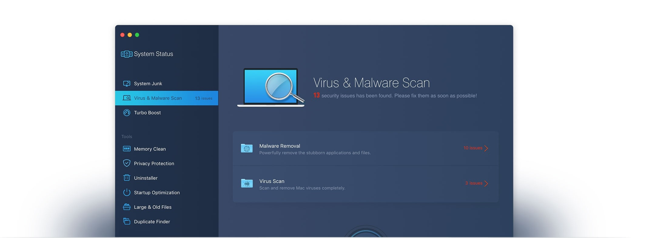 cleammymac x virus and malware scan