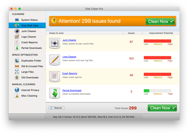 disck clean pro for mac