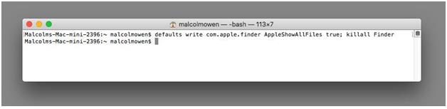 Hidden Files On Mac Using Terminal