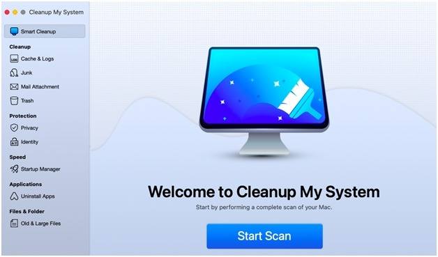 cleanup my system scan